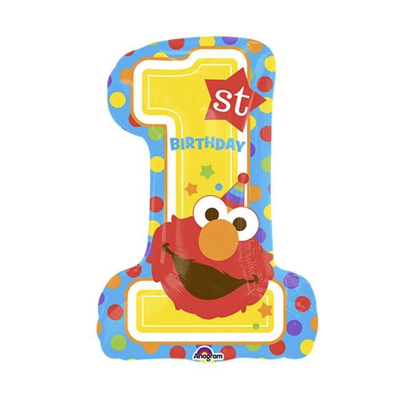 Elmo Number One 1st Birthday Balloon