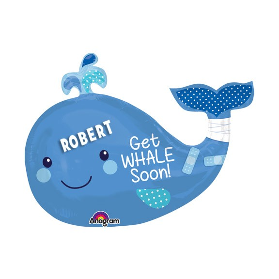 Get Whale Soon!Personalized Balloon