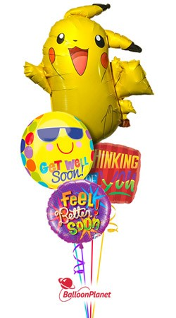 Pikachu Get Well Balloon Bouquet
