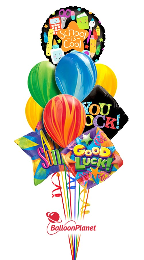 You're Awesome! Back to School Balloon Bouquet (10 Balloons)